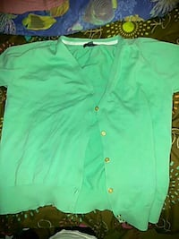 teal button up cardigan Monroe, 30655