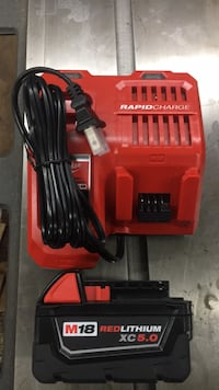 Milwaukee M18/M12 RAPID Charger and M18 XC 5.0 battery , both brand new never used . FIRM PRICE  . No offer Langley, V2Y 0H9