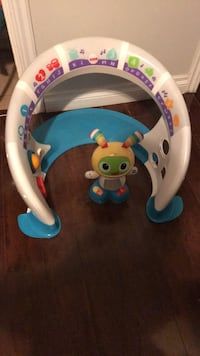 baby's white and blue Fisher Price activity toy Surrey, V3R 1Y5