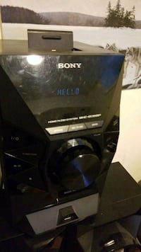 Sony Speaker With CD Slot, iPhone Jack & USB Aurora, L4G
