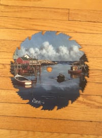 Peggy's Cove Painting on Saw Blade