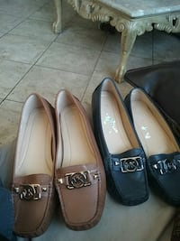 Two  pairs of mk leather flats  National City, 91950