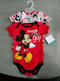 NEW! Mickey Mouse Onesies 6-9m Vaughan