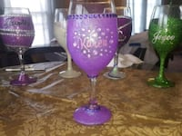 purple and clear wine glass 47 km