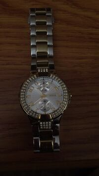 Round silver-colored rolex analog watch with link bracelet Dearborn, 48126