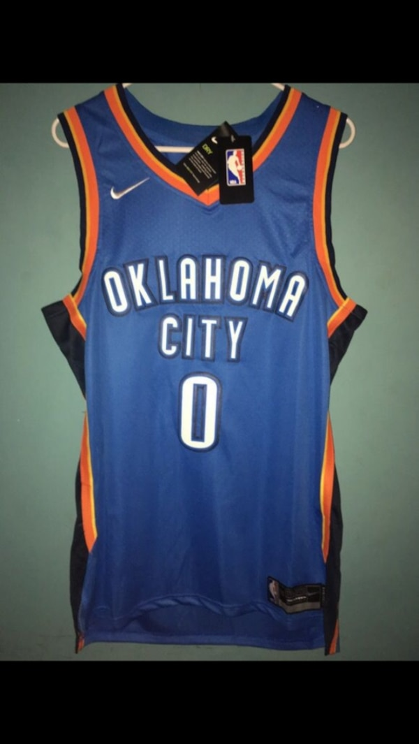 san francisco 3ceb9 98230 Used Oklahoma city thunder russell westbrook jersey for sale ...