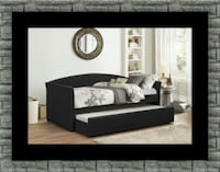 Black daybed with mattress McLean
