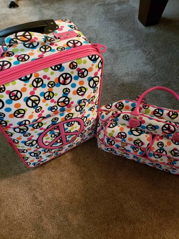 Peace Sign luggage