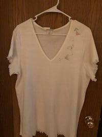 White bling shirt sleeve top Bolingbrook, 60440