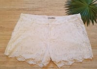 Lucky brand white lace eyelet shorts size 30 New Orleans, 70115