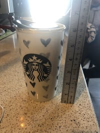 Starbucks Ceramic Double Wall Travel Mug Tumbler Cup 2014 used