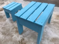 Two children's blue stools..$50 for the two