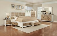 *BRAND NEW* NATURAL WOOD QUEEN BED SET! DELIVERY AND ASSEMBLY!!! Atlanta, 30315