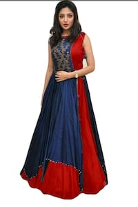 women's red and blue floral dress Ahmedabad, 380007