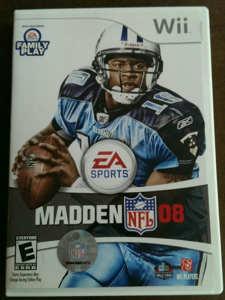 Photo Madden NFL 08 Nintendo Wii game