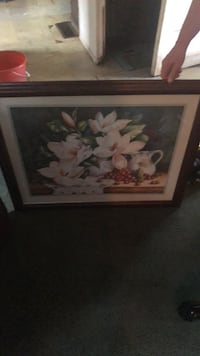 White and pink flower painting Chattanooga, 37343