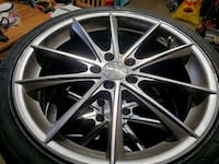 Ace Alloy Convex 20x8.5 wheels and tires Frederick