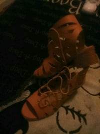 pair of brown leather boots San Leandro, 94577