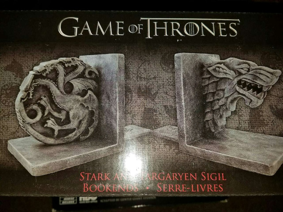 Letgo game of thrones stark targaryen in anderson in - Dire wolf bookends ...
