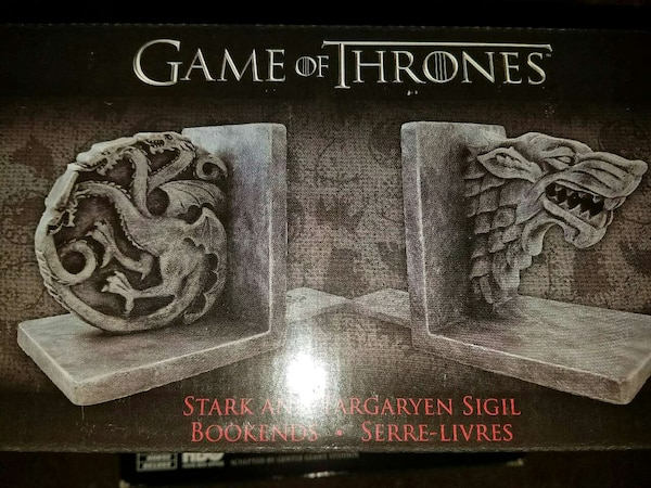 Game Of Thrones Stark Targaryen Bookends