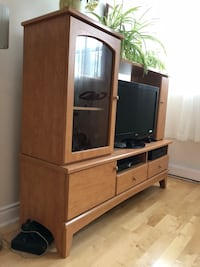 Brown wooden tv stand  Dorval