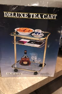 Tea cart Brass and glass  Mississauga, L5H 4G7