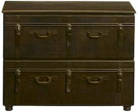 Leather Suitcase File Cabinet
