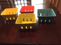 Colourful ceramic containers, vases Barrie, L4N 1A1