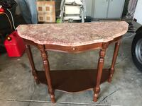 brown wooden frame glass top table New Smyrna Beach, 32168