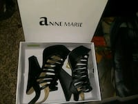 pair of black Anne Marie leather heeled sandals wi Irving, 75062