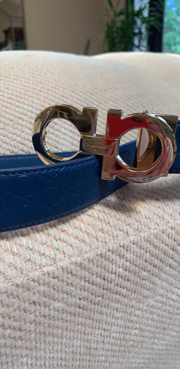 Ferragamo belt/unisex/goldtone buckle/bubkle can be attached to any other  belt you have!/fantastic:inspired
