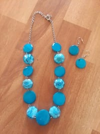 blue and silver beaded necklace Maysville, 28555