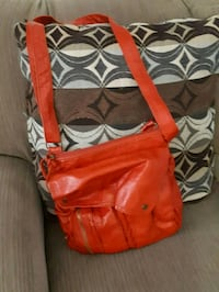 red and black leather crossbody bag Toronto, M6N 2G7