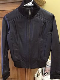 New brown Bomber leather zip-up jacket Gatineau, J8T 5G1
