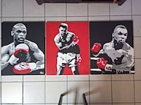 MayWeather Jr. ;Muhammad Ali; and Mike Tyson posters