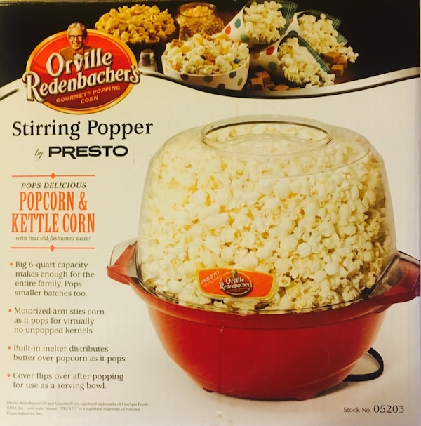 Used Orville Redenbacher 05203 Presto Stirring Popcorn Popper Red