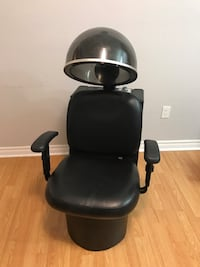 Black leather hair dryer chair Markham, L6E 1C4