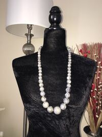 """31"""" Marbled Gray and Light Pearl White Necklace Alexandria, 22312"""