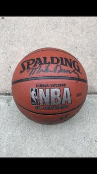Signed clippers basketball