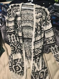 Black and white tribal print cardigan Airdrie, T4A 1P9