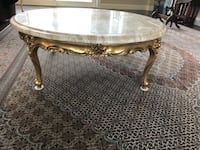 Beautiful Italy wood made coffee table with two end table with marble top El Dorado Hills, 95762