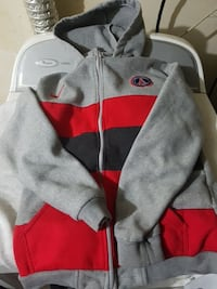 Gray, black and red nike winter sweater
