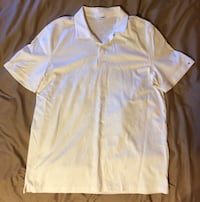 Calvin Klein men's white Polo size Large 2283 mi