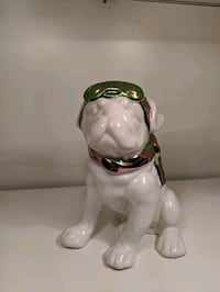 Aviator Bulldog Figurine
