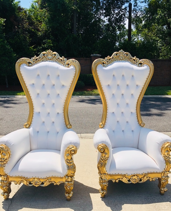 Used 6 Ft Tall Throne Chair Rentals Wedding Bridal Baby Shower