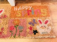 """ESTATE SALE ITEMS! FREE """"Happy Spring"""" mat in pastel colors with a bunny and flowers! In perfect condition! One free item with every purchased item (even if it's just an item from our .75 table!) Please see the description of this ad & the pictures for mo Dolton, 60419"""