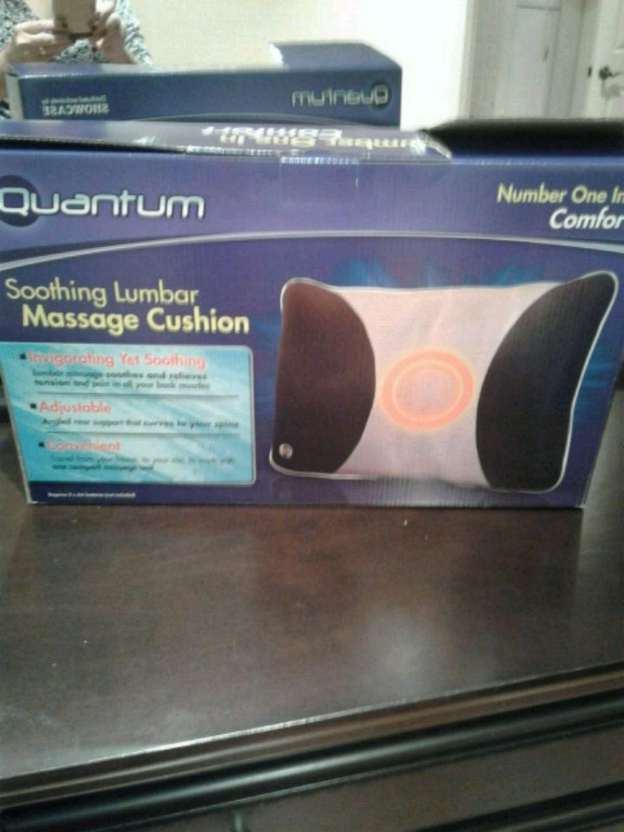 used black and gray quantum soothing lumbar massage cushion box for rh ca letgo com