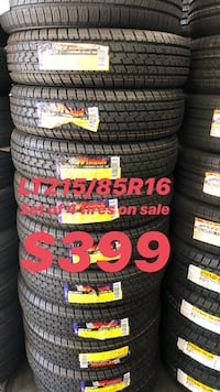 LT215/85R16 SET OF 4 TIRES ON SALE WE CARRY ALL BRAND AND SIZES WE FINANCE NO CREDIT NEEDED  Lafayette