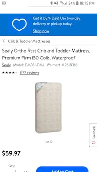 Crib mattress sealy cozy dreams firm Woodbridge, 22193
