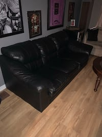 Faux leather, well loved. Moving out west need gone! Best offer takes it!! Will need two people to move as is very large in size!!!!! Barrie, L4N 6N7